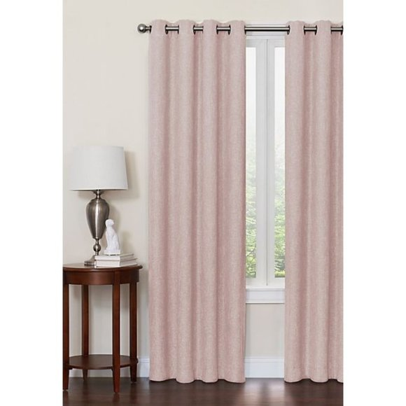 Window Curtain 63″L 50″W Pink Blackout Thermal